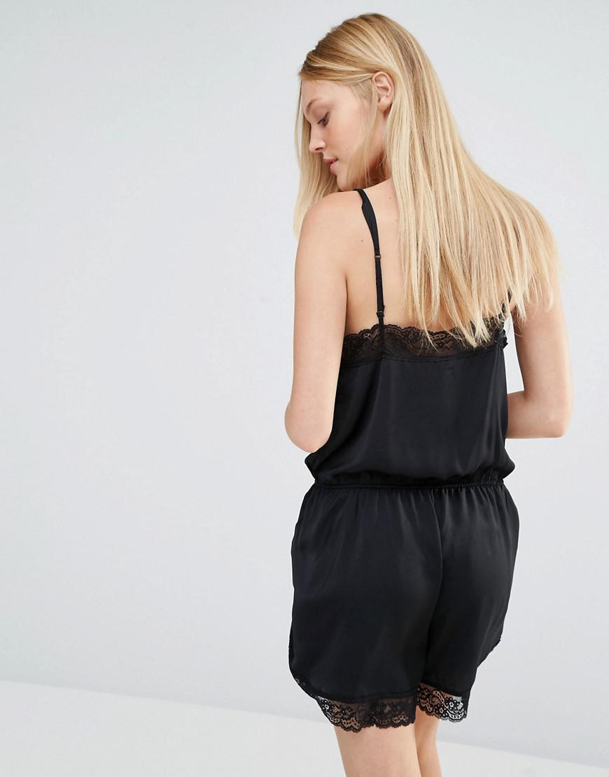 Y.A.S Synthetic Adie Playsuit in Black