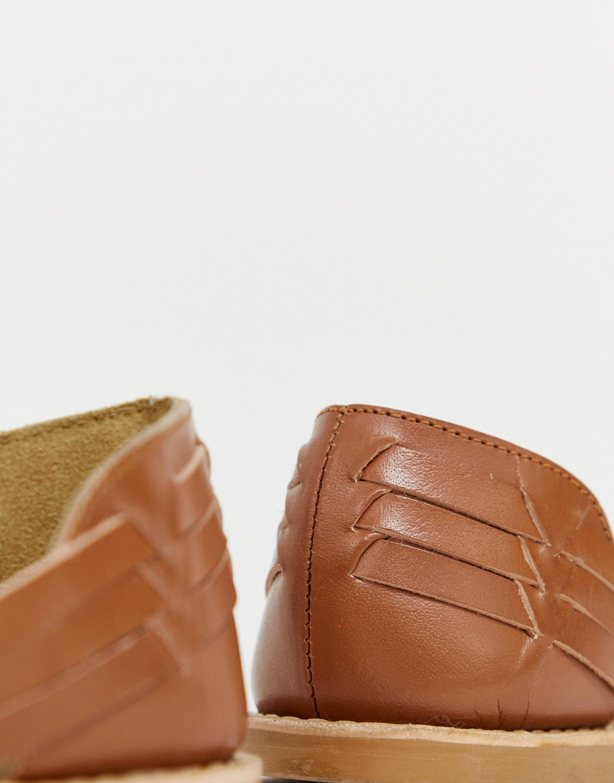Chaussures d'été en cuir Cuir Park Lane en coloris Marron