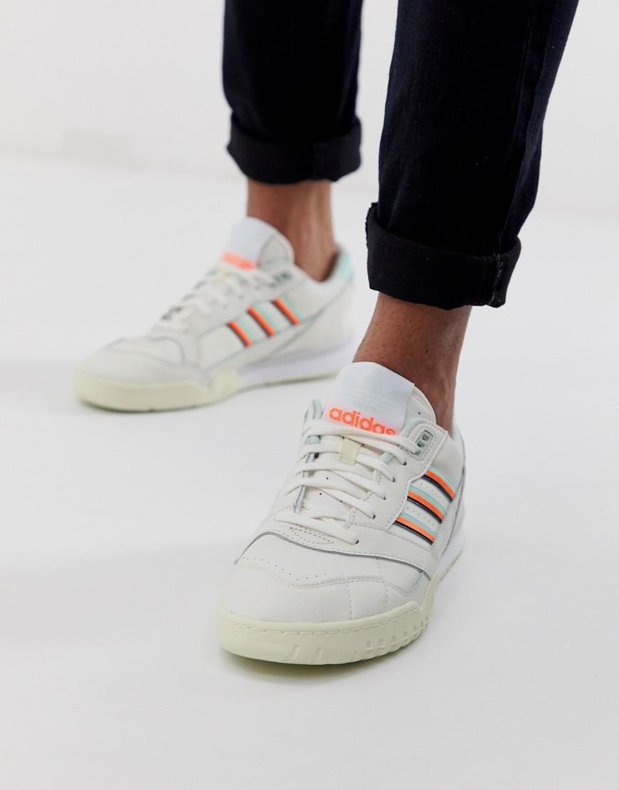 unos dias reputación primero zapatos para correr adidas Originals Leather A.r Sneakers in White for Men - Lyst