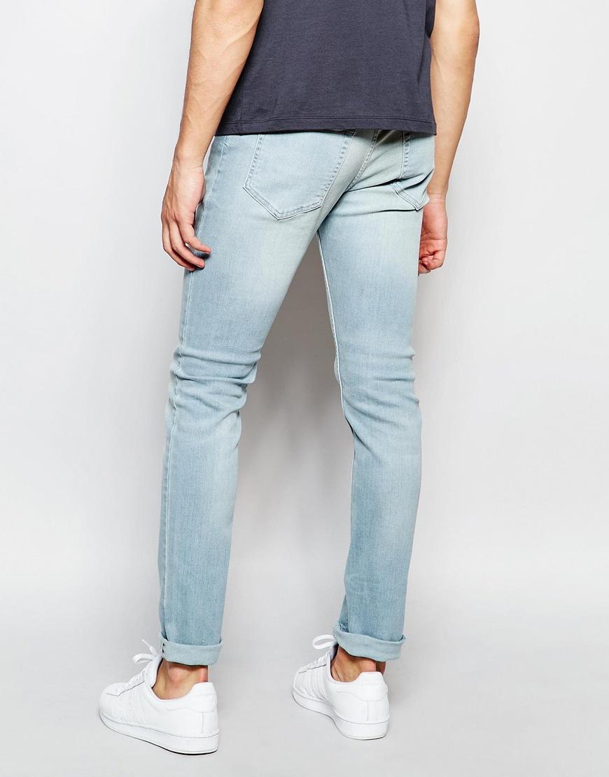 Lyst - Farah Skinny Jeans In Stretch in Blue for Men 568b771e8dc7