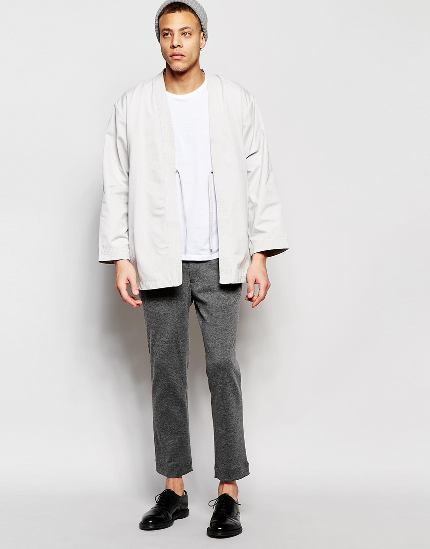 eb2aa15f55f Lyst - WÅVEN Kimono Jacket Imma Mink Grey in Gray for Men