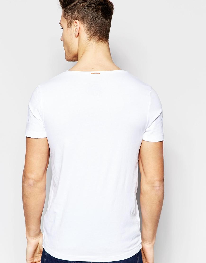 Lyst Boss Orange T Shirt With V Neck Regular Fit In