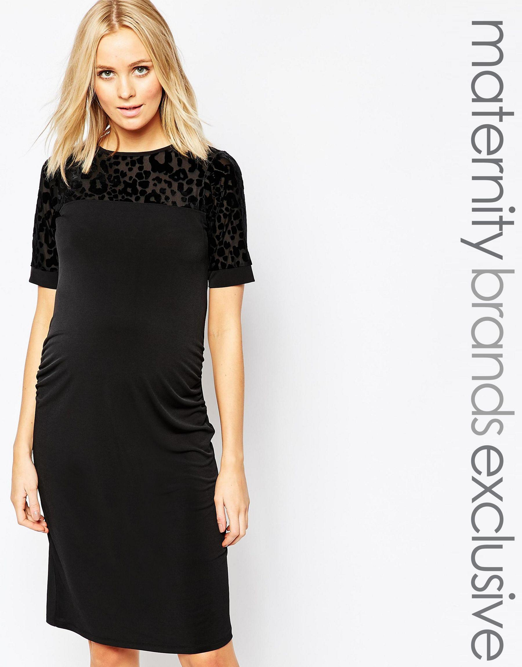 12a0f0b87503d Lyst - Bluebelle Maternity Burnout Body-conscious Dress in Black