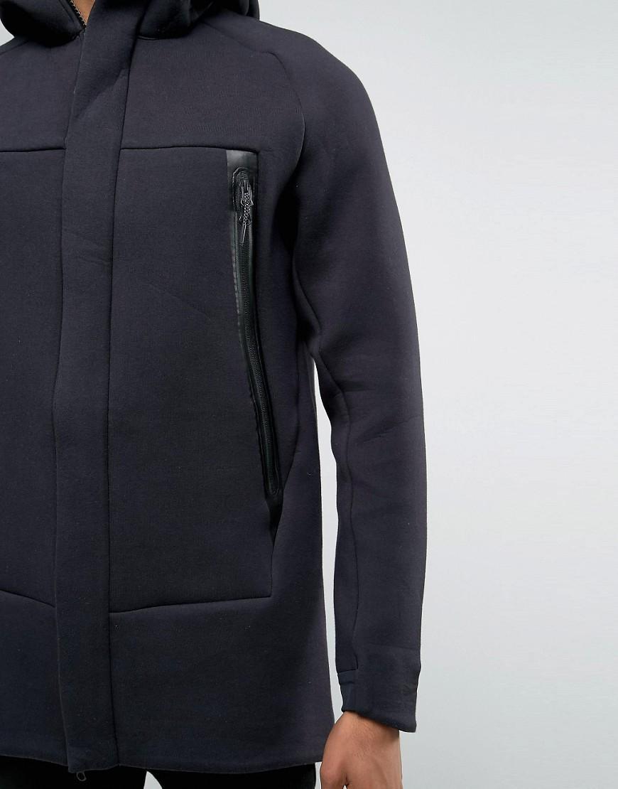 b8e4c2e2ecb8 Nike Tech Fleece Longline Jacket With 3m Detail In Black 805142-010 in  Black for Men - Lyst