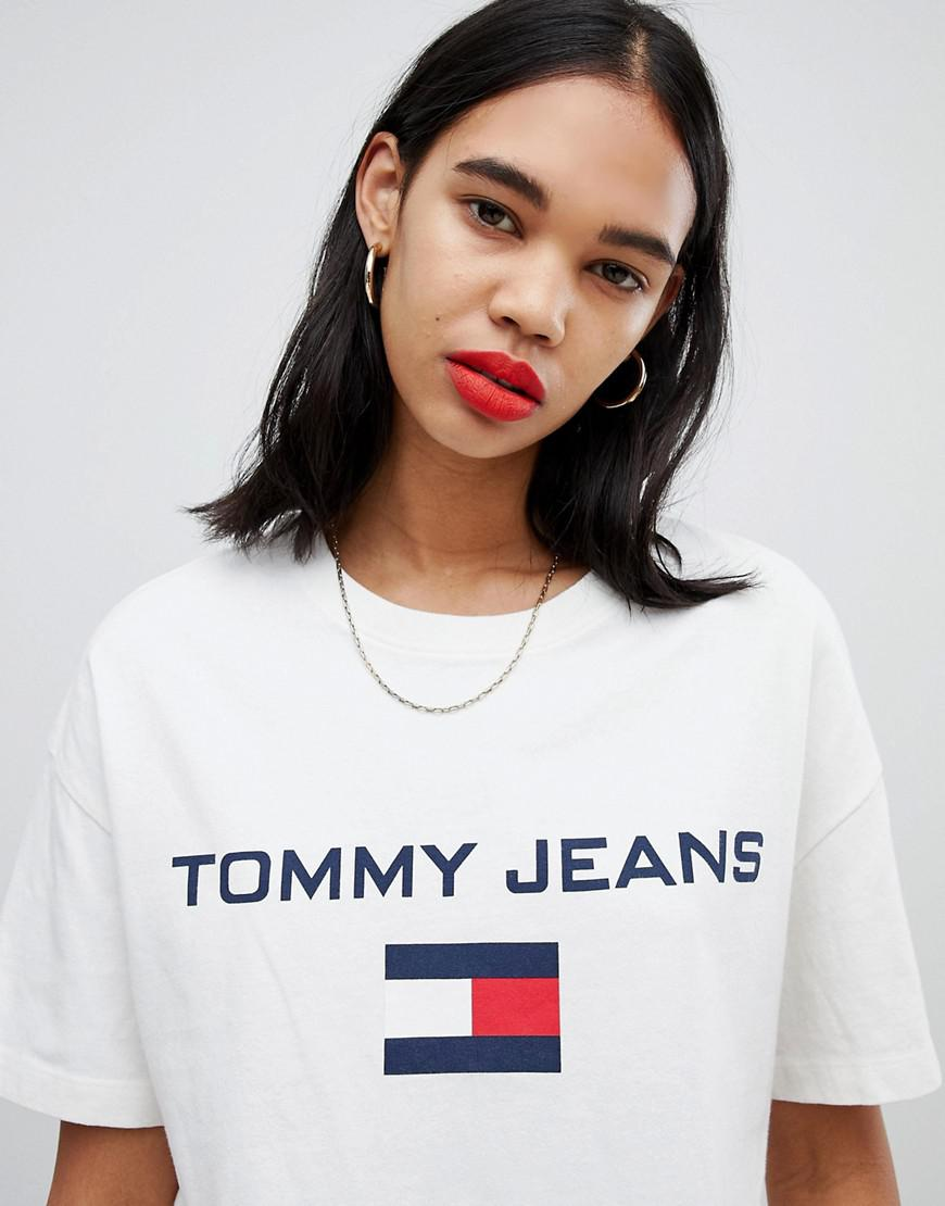 60633edd Tommy Hilfiger Tommy Jean 90s Capsule 5.0 Logo T-shirt in White - Lyst