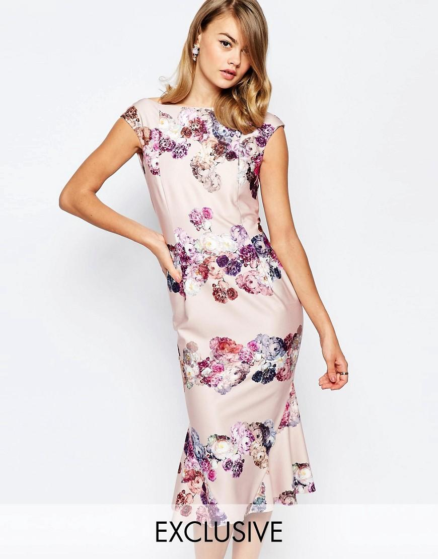 Lyst True Violet Bardot Pencil Dress With Flippy Hem In