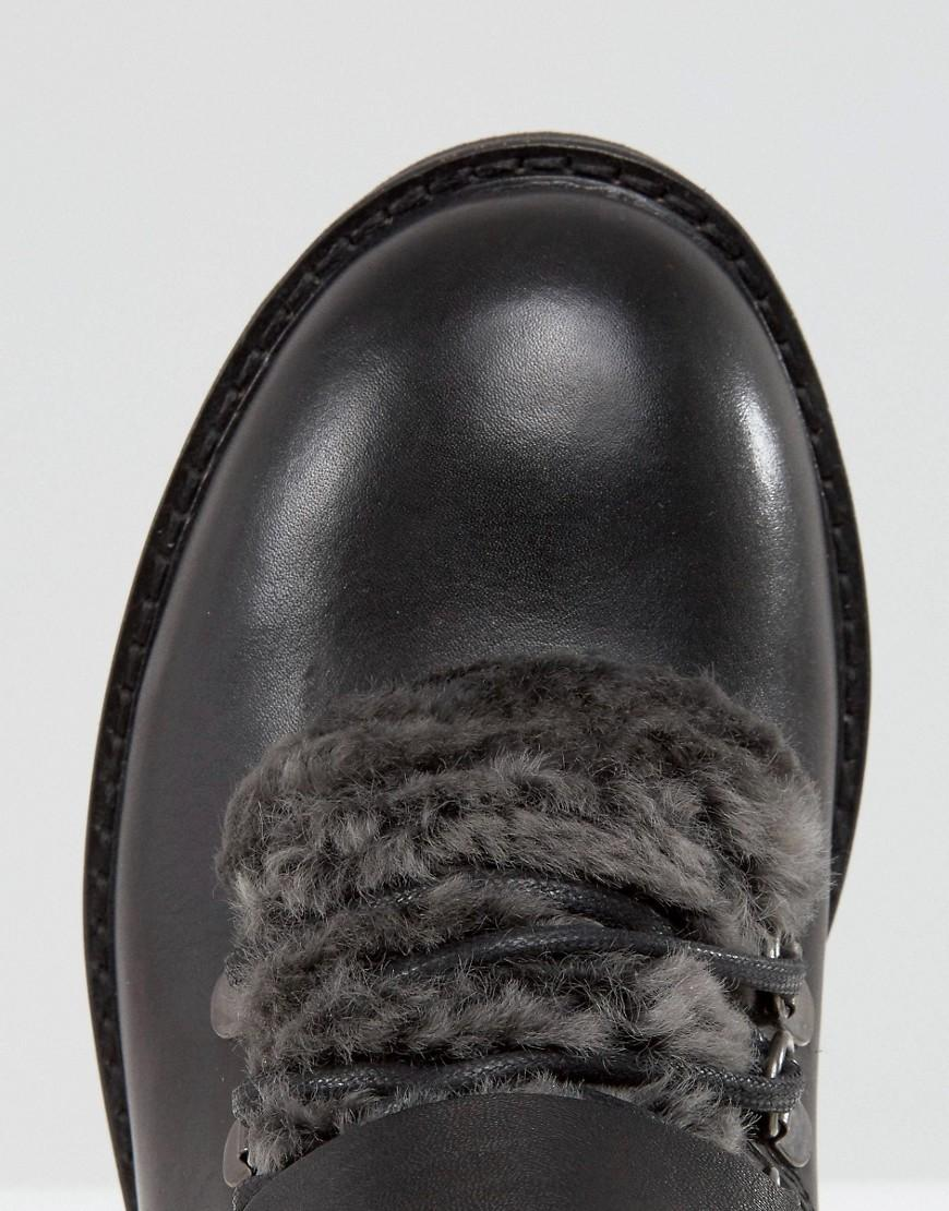 H by Hudson H By Hudson Adda Faux Fur Lined Boots in Black