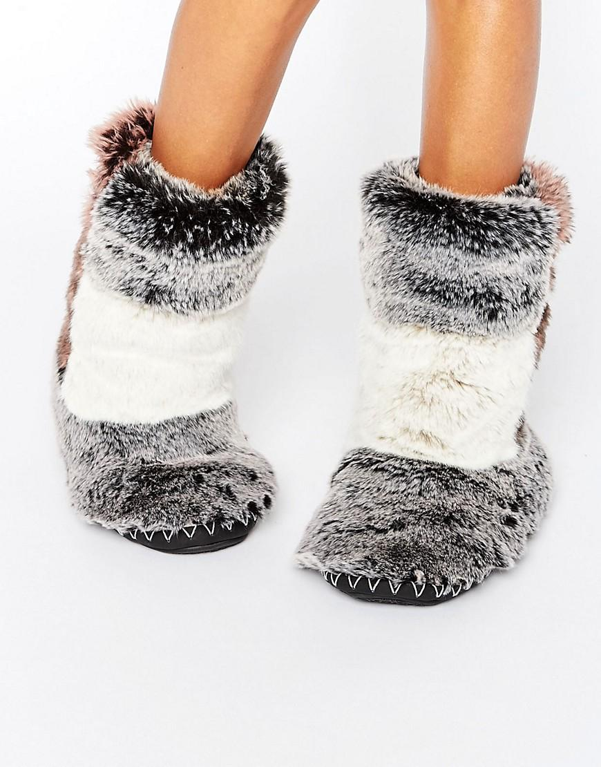 Bedroom Athletics Florence Luxury Fur Slipper Boot In