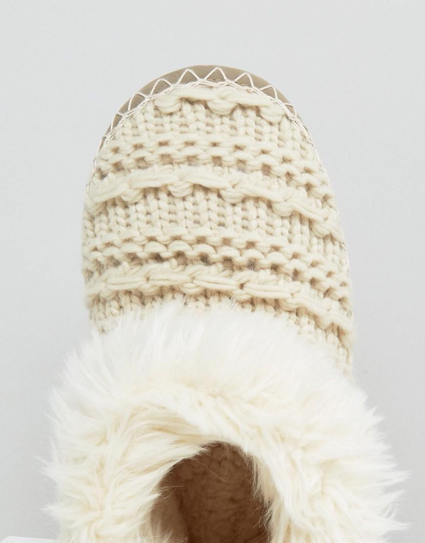 Lyst Bedroom Athletics Ariana Aran Knit Slipper Boot