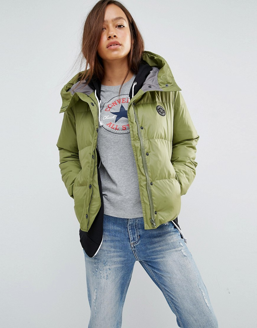 cc71bd599f8 Converse Winter Jacket in Green - Lyst
