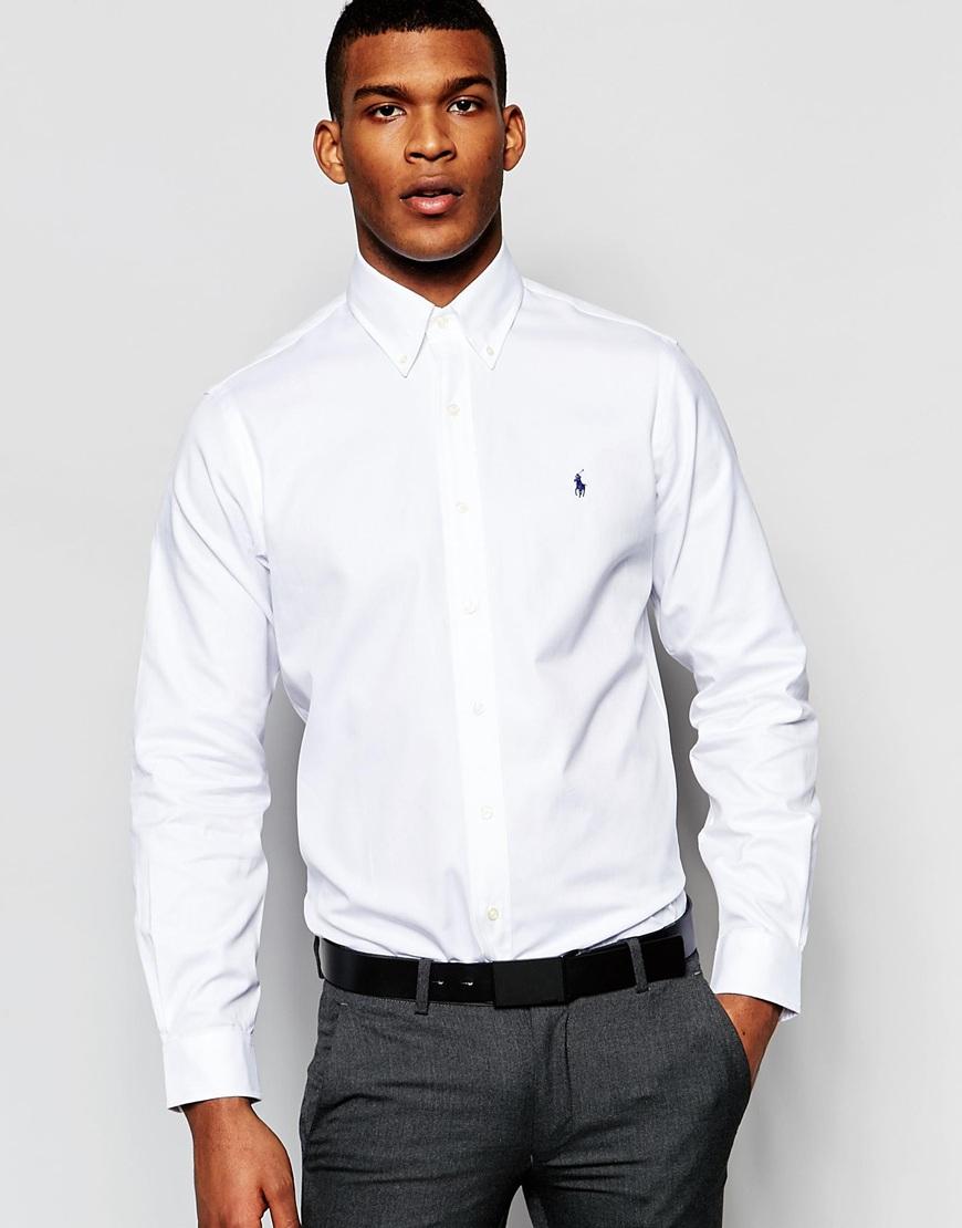 Mens polo ralph lauren white long sleeve 100 cotton male for Lauren ralph lauren mens dress shirts