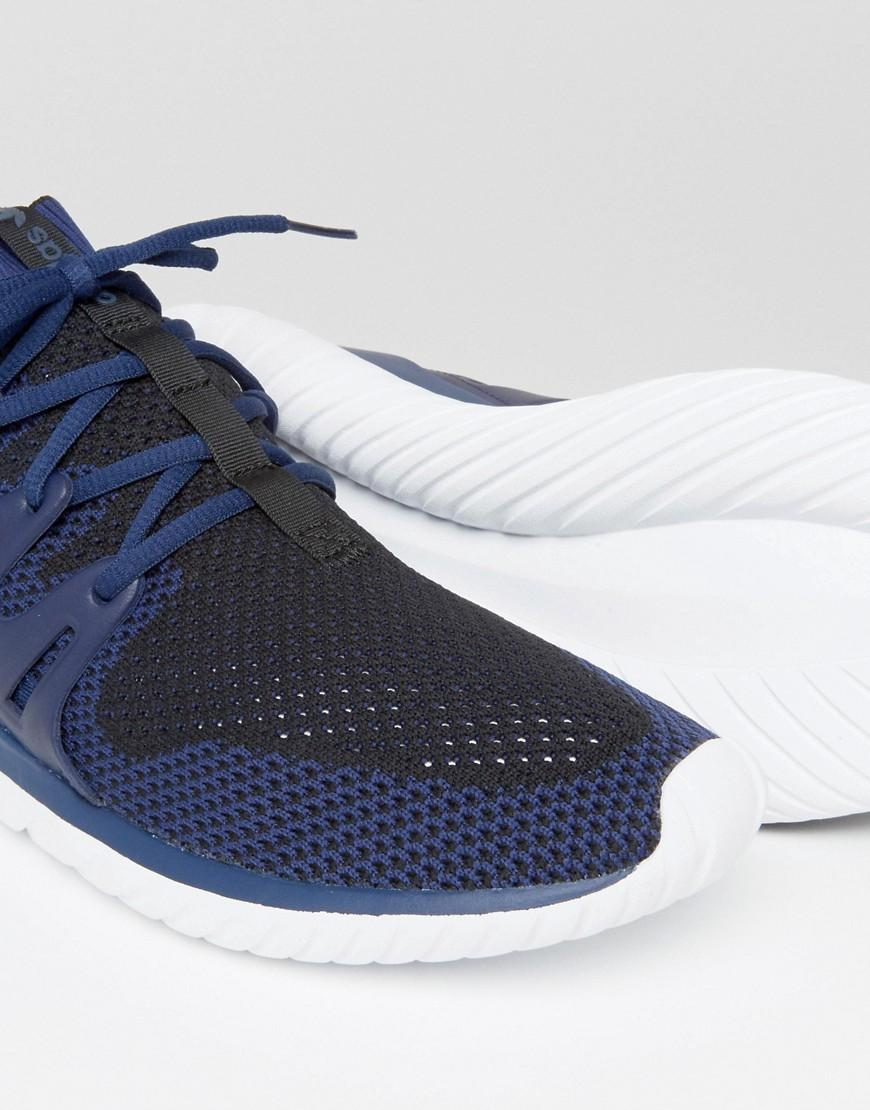 Lyst adidas originali tubulare, nova primeknit formatori in blu