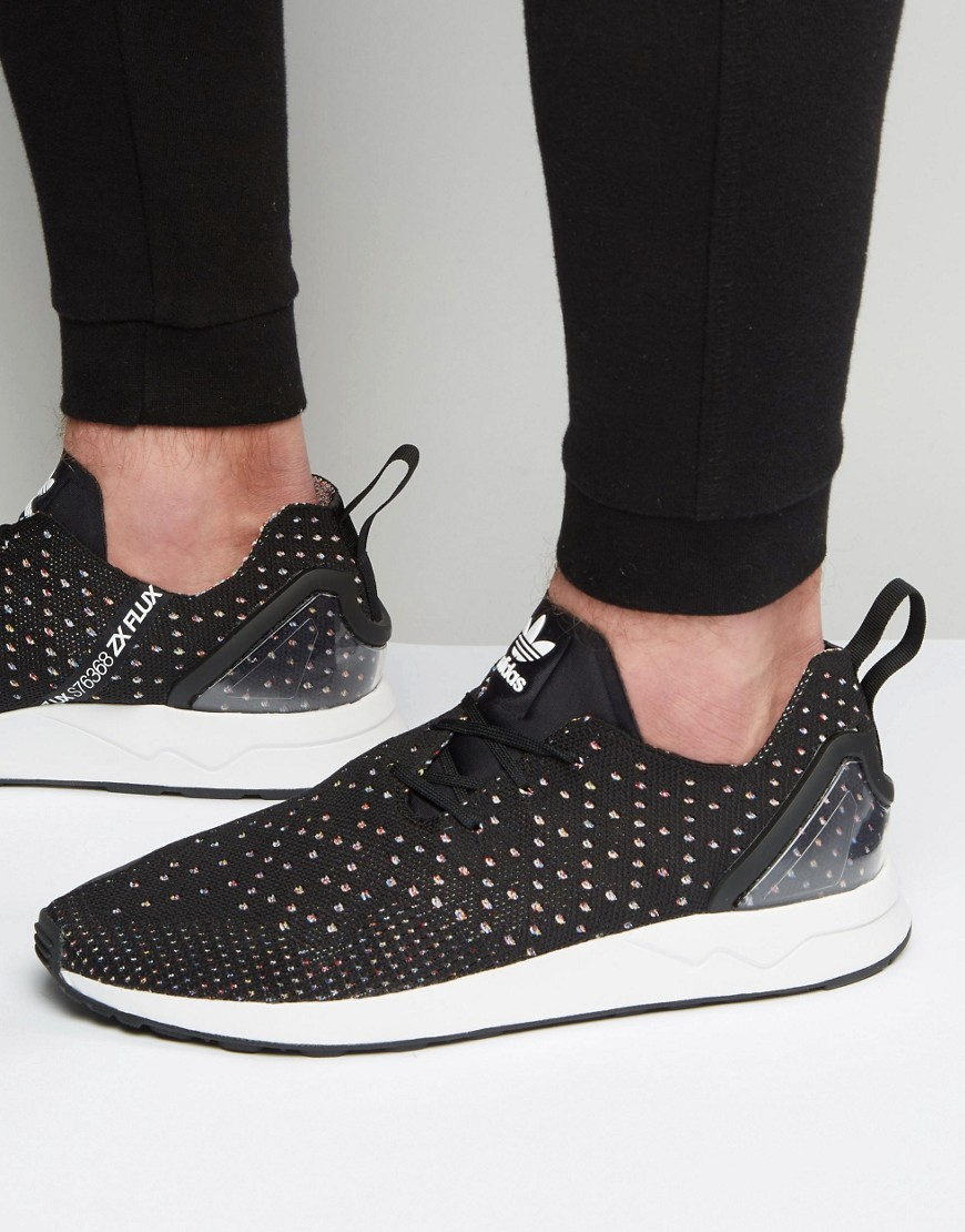 a30d98930 Lyst - adidas Originals Asymmetrical Zx Flux Primeknit Trainers In ...