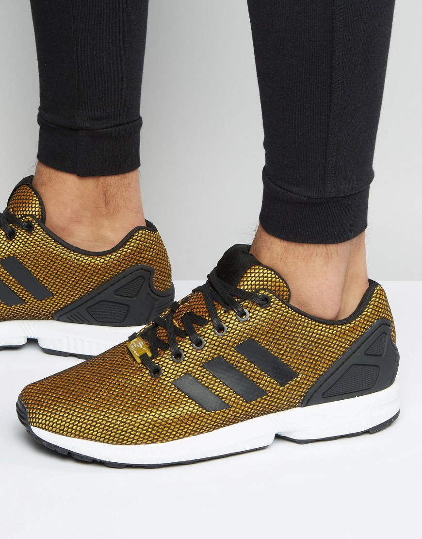 Zx Flux Trainers In Gold S32275 - Gold
