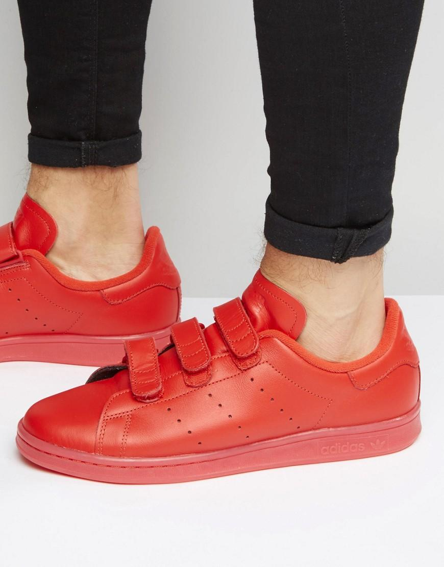 Stan Smith Velcro Trainers In Red S80043