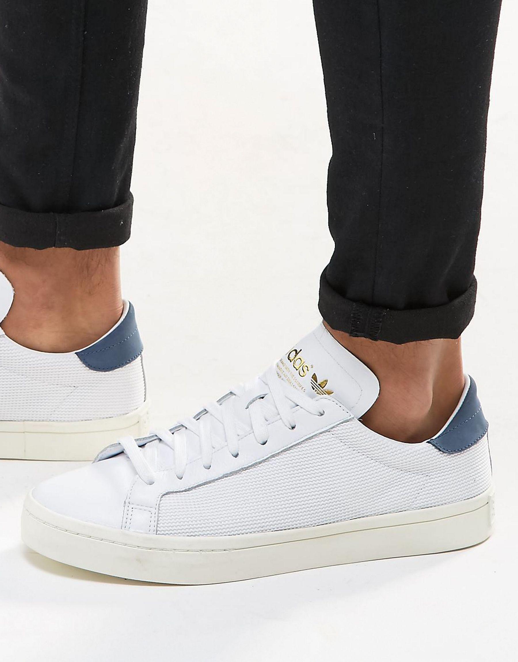 adidas Originals Men Court Vantage Suede Sneakers Fits true