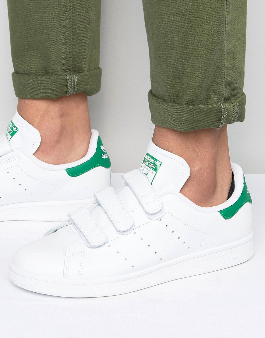 Stan Smith Velcro Trainers In White S75187