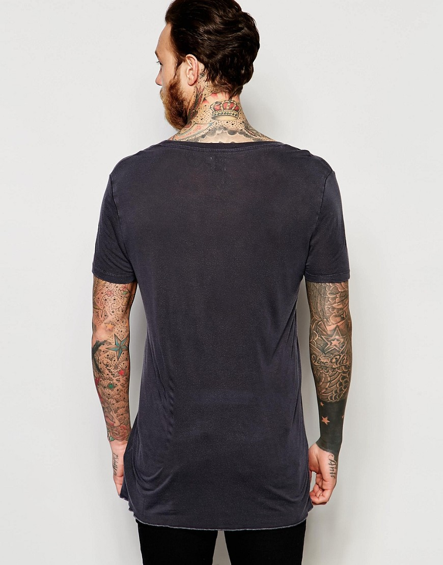 Asos longline t shirt in bamboo fabric with heavy wash and for Bamboo fiber t shirt