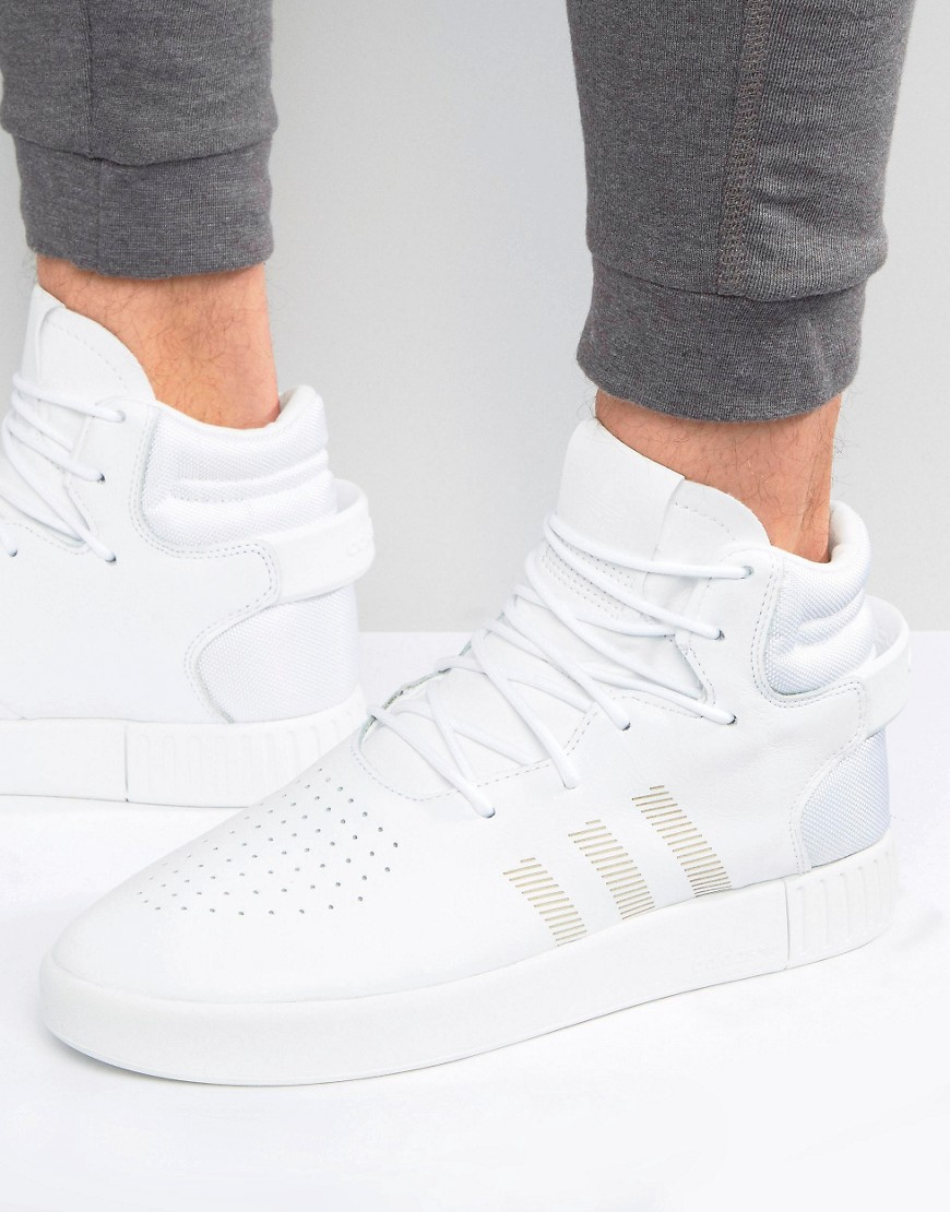 buy popular dd947 02059 Adidas Originals Tubular Invader Trainers In White S87194 in