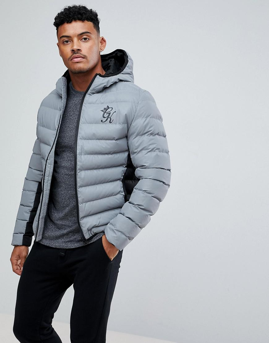c29c4a783 Gym King Gray Puffer Jacket In Reflective for men