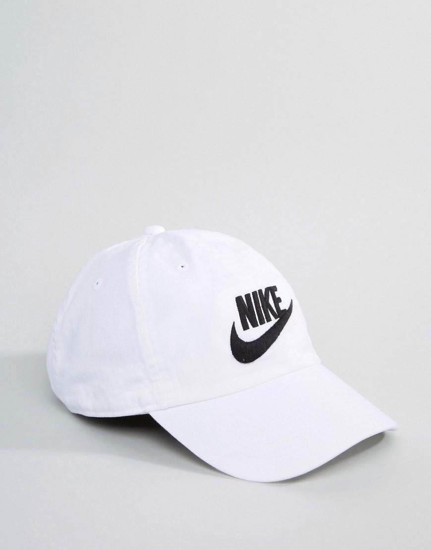... wholesale nike swoosh h86 cap in white lyst 34fa4 bcf8b 040b657ee37