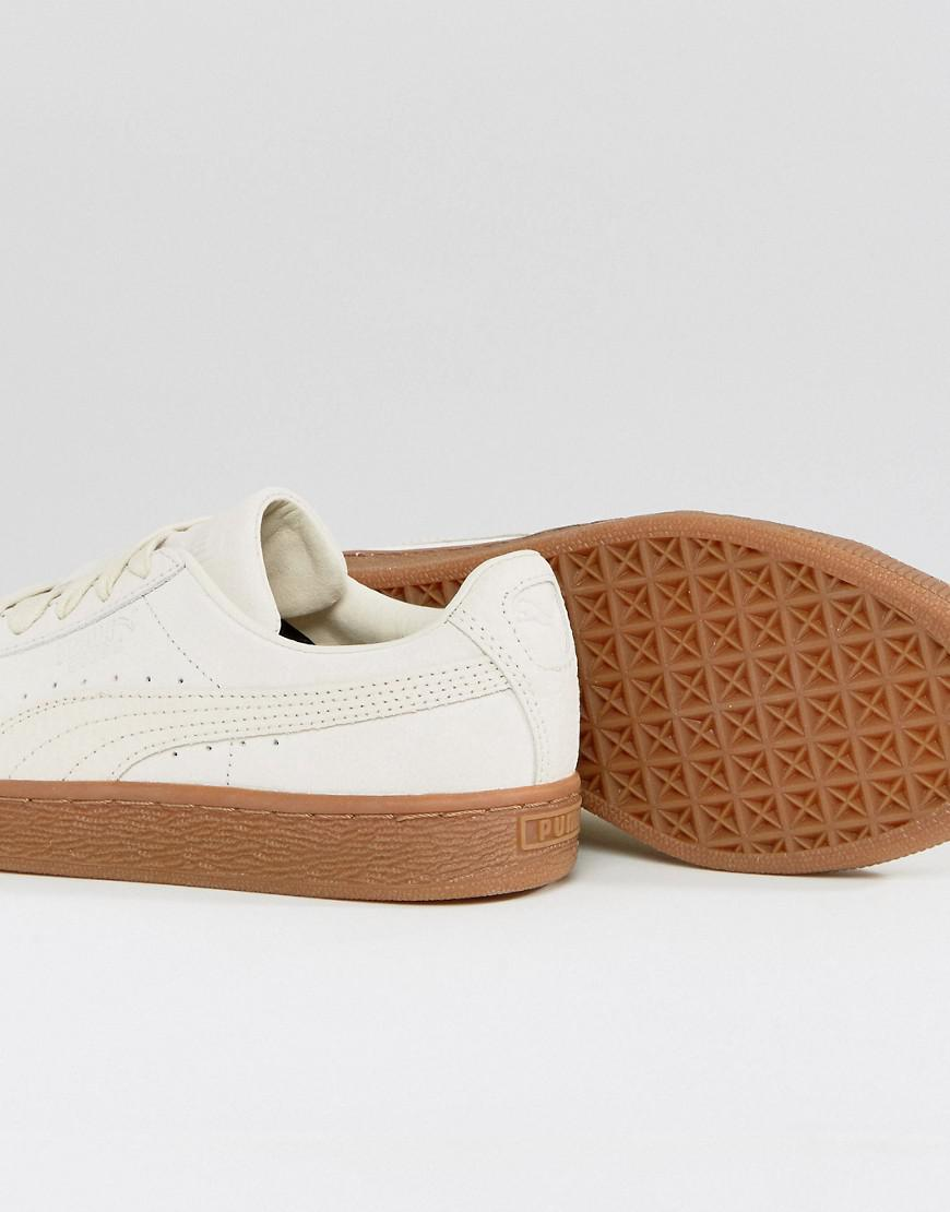 Lyst - PUMA Suede Classic Trainers With Gum Sole In Beige in Natural bbb9909e2