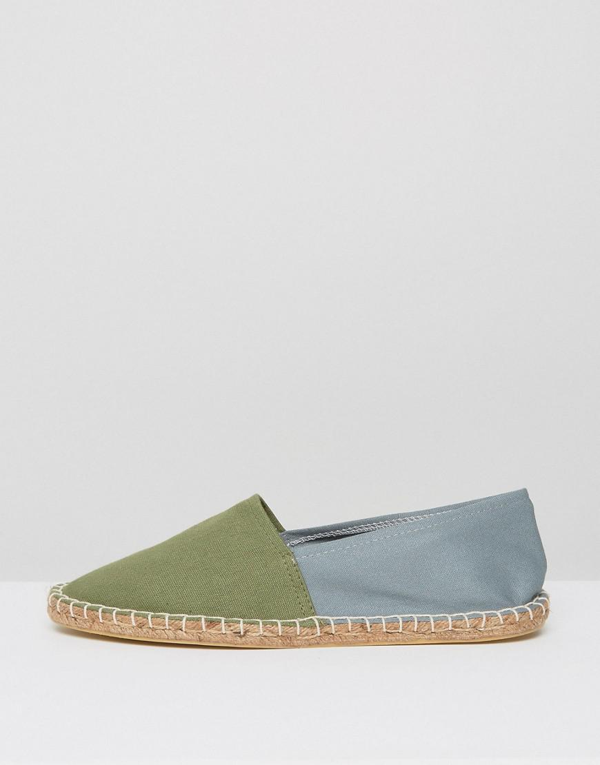ASOS Canvas Two Tone Espadrilles In Pink And Green 2 Pack Save for Men