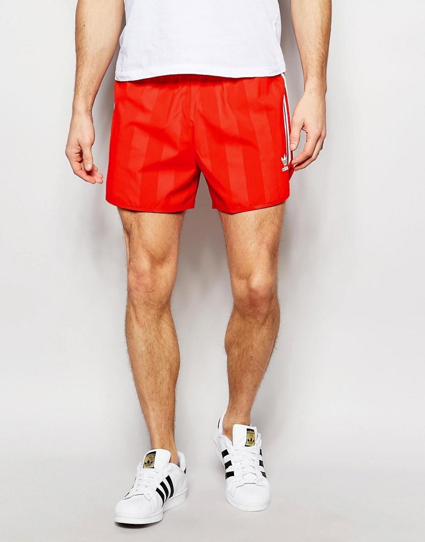 adidas shorts red mens