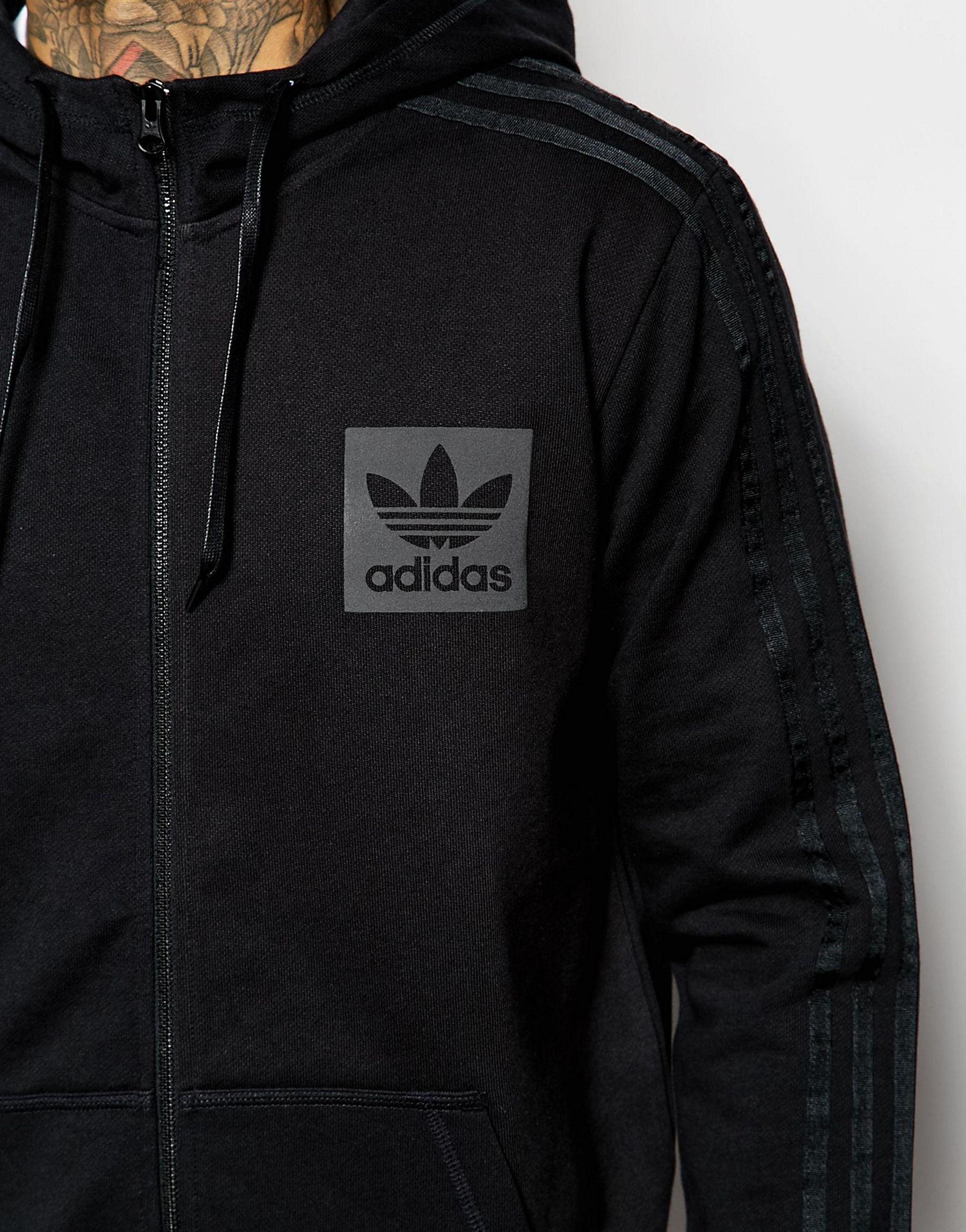 67976134369d Lyst - adidas Originals Hoodie With Box Logo Aj7876 in Black for Men