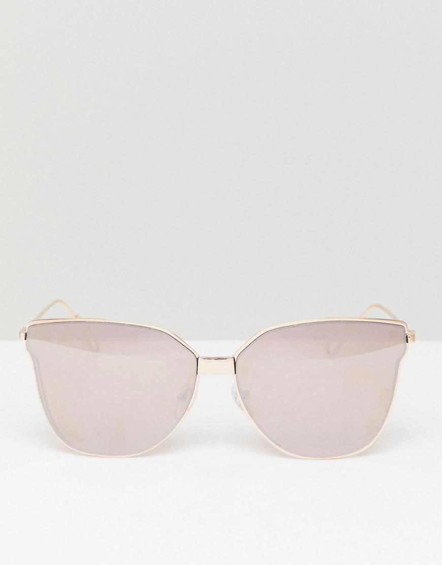 835bf5252b9 Lyst - South Beach Cat Eye Flat Lens Sunglasses in Metallic