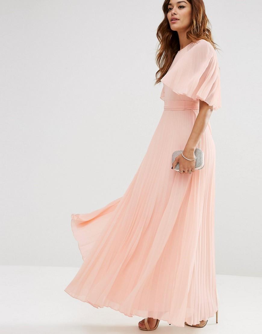 63ab232720c7 Pleated Chiffon Maxi Dress Long Sleeve - raveitsafe