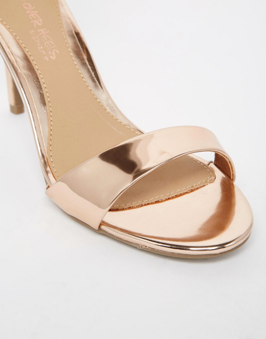 Dune Mora Rose Gold Barely There Heeled Sandals In Pink Lyst
