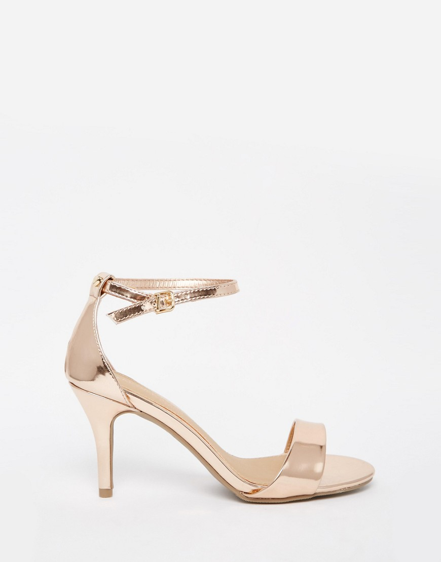 c52fcb1c85f Dune By Dune Mora Rose Gold Barely There Heeled Sandals - Rose Gold ...