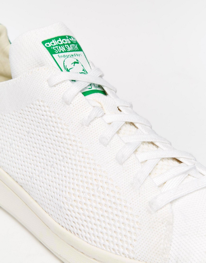 adidas Originals Leather Stan Smith Primeknit Trainers S75146 in White for Men