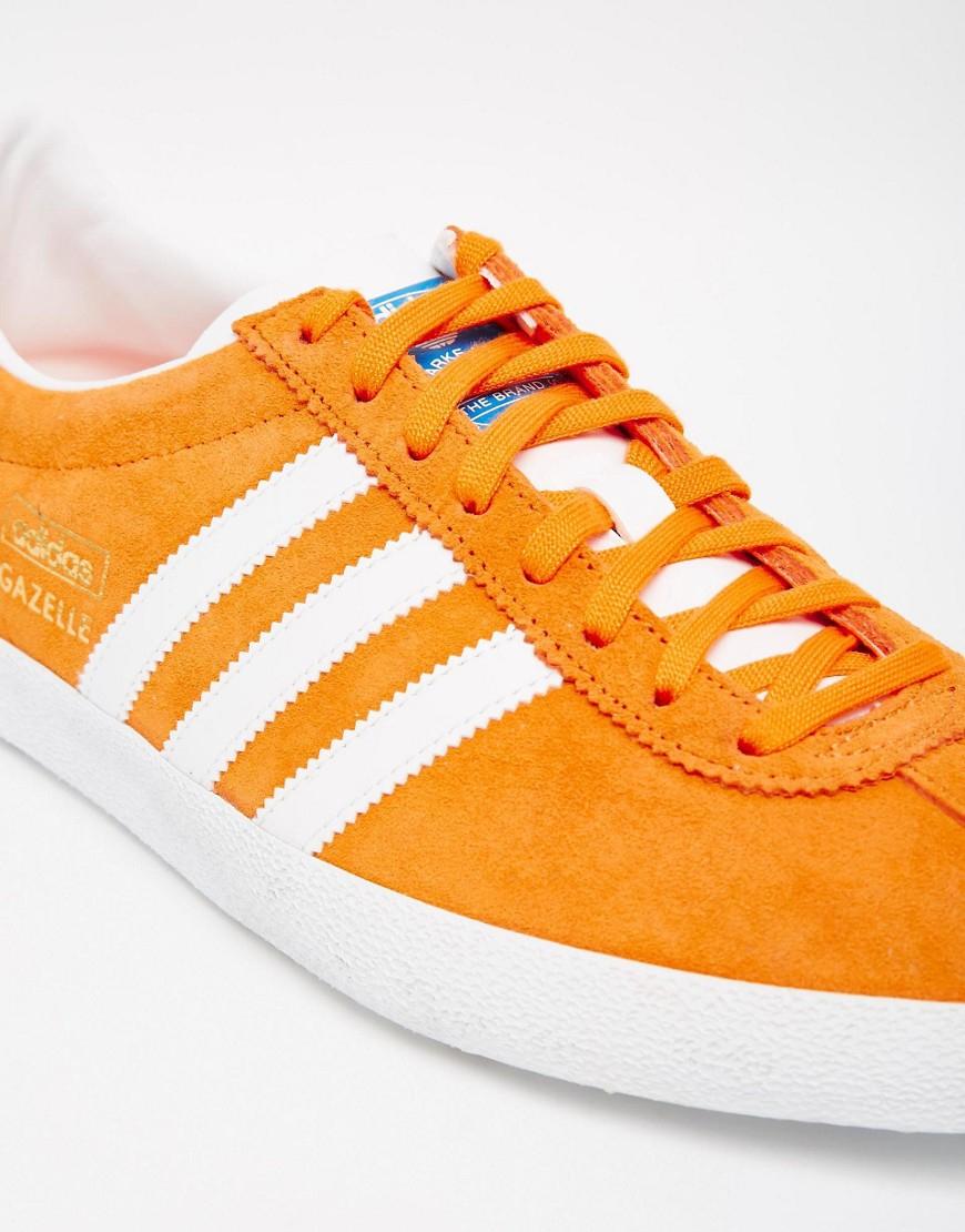 lyst adidas originals gazelle og trainers s74848 in orange for men. Black Bedroom Furniture Sets. Home Design Ideas