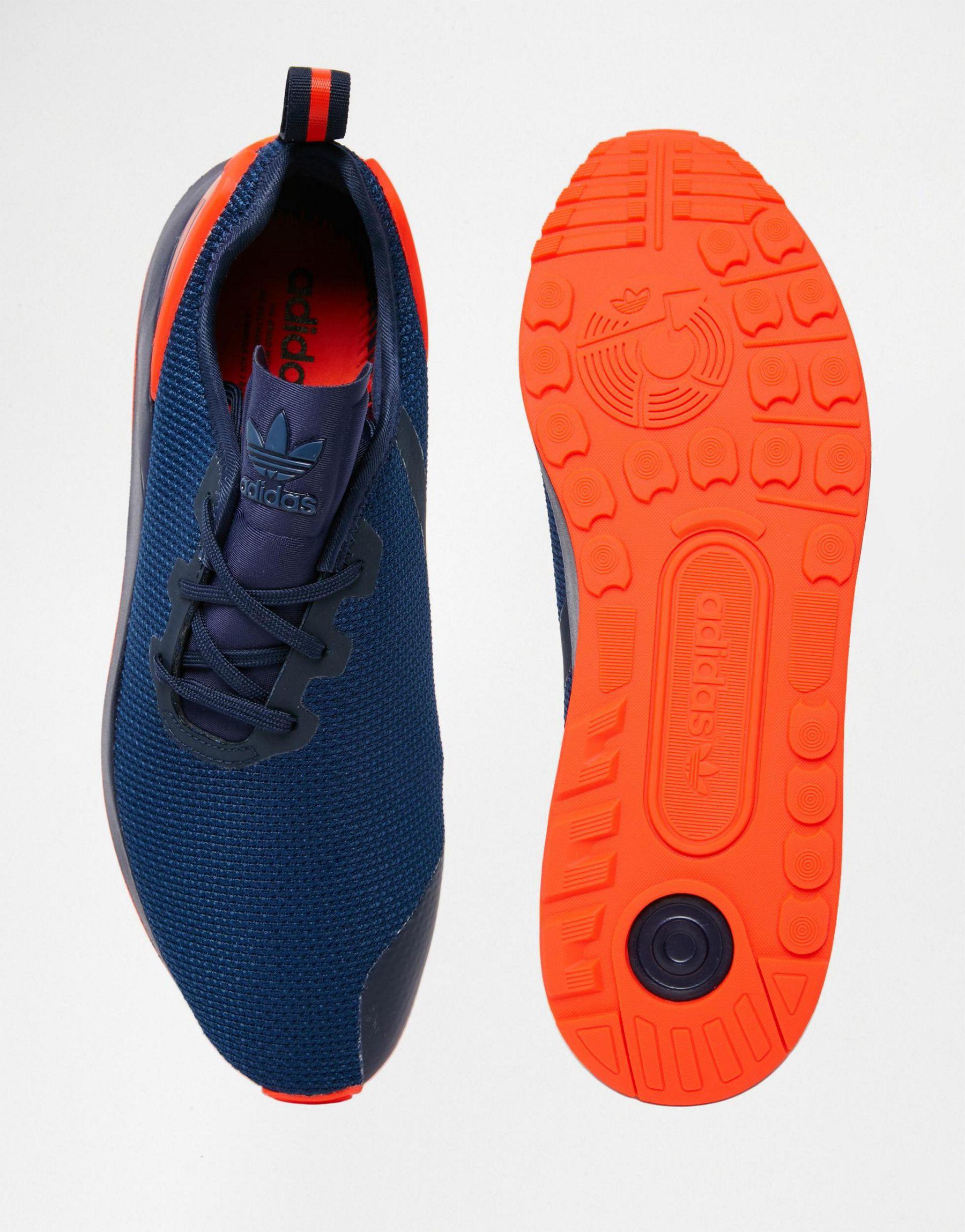 Lyst - Adidas Originals Asymmetrical Zx Flux Trainers Aq3167 in Blue for Men