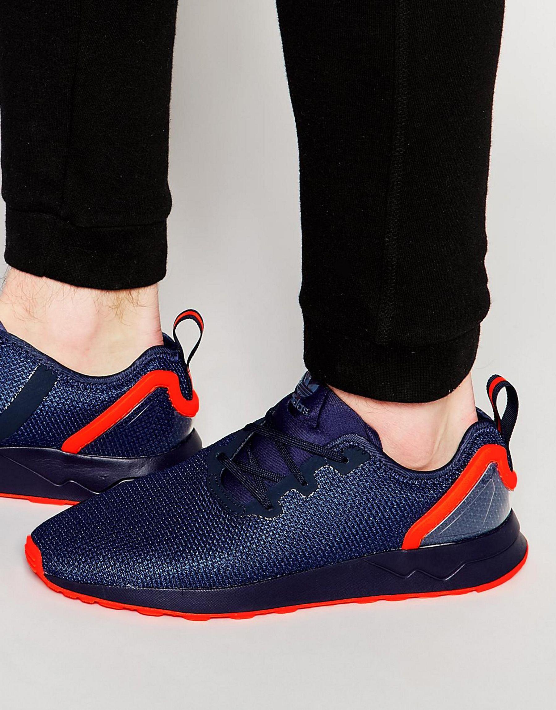 Adidas originali asimmetrica zx flusso aq3167 in blu per i formatori