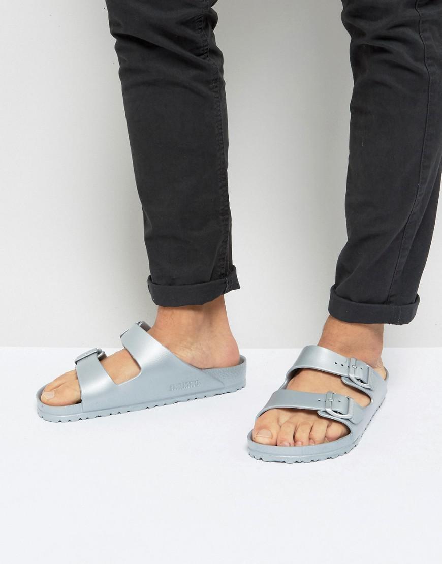 414975ba4 Birkenstock Arizona Eva Metallic Sandals In Silver in Metallic for ...