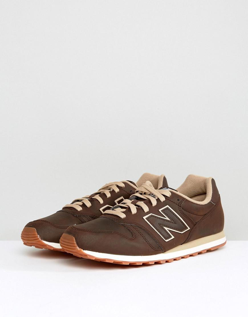 new balance 373 leather brown