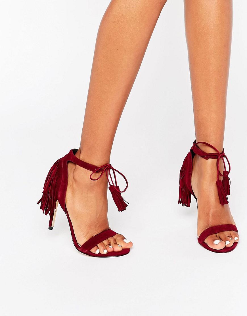 Faith Tassel 2 Part Sandals in Red