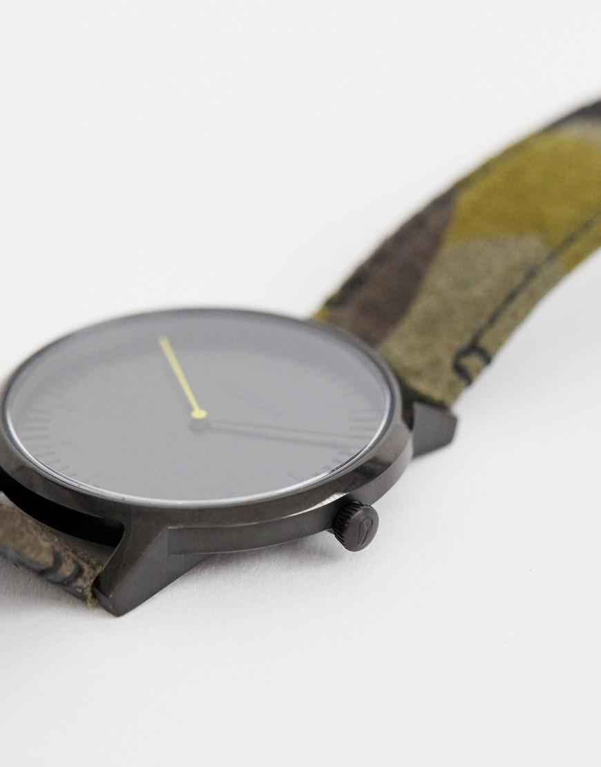 c70c4bb9a805 Reloj de cuero en camuflaje de 40mm Porter de Nixon de hombre de ...