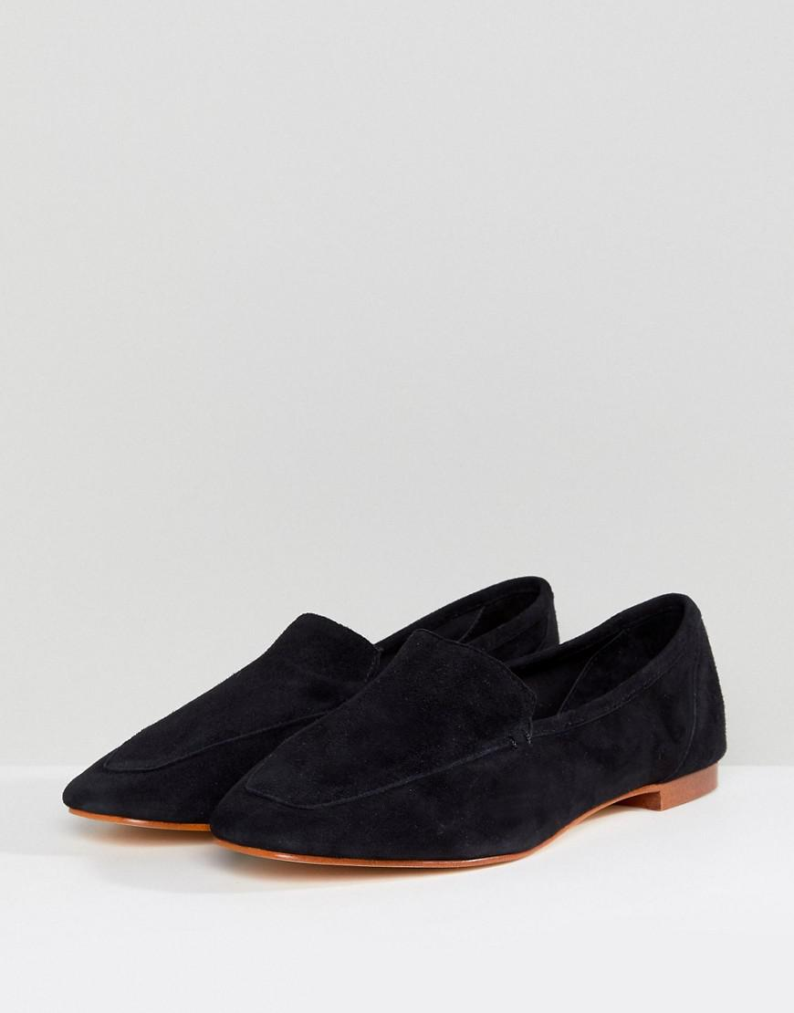 df51d14d12a Office Flora Black Soft Leather Loafers in Black - Lyst