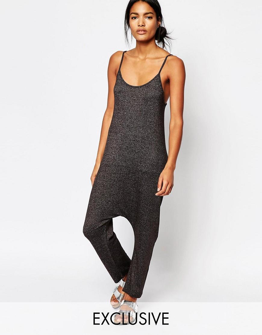 Lyst Nocozo Relaxed Jumpsuit In Gray Anime Culottes