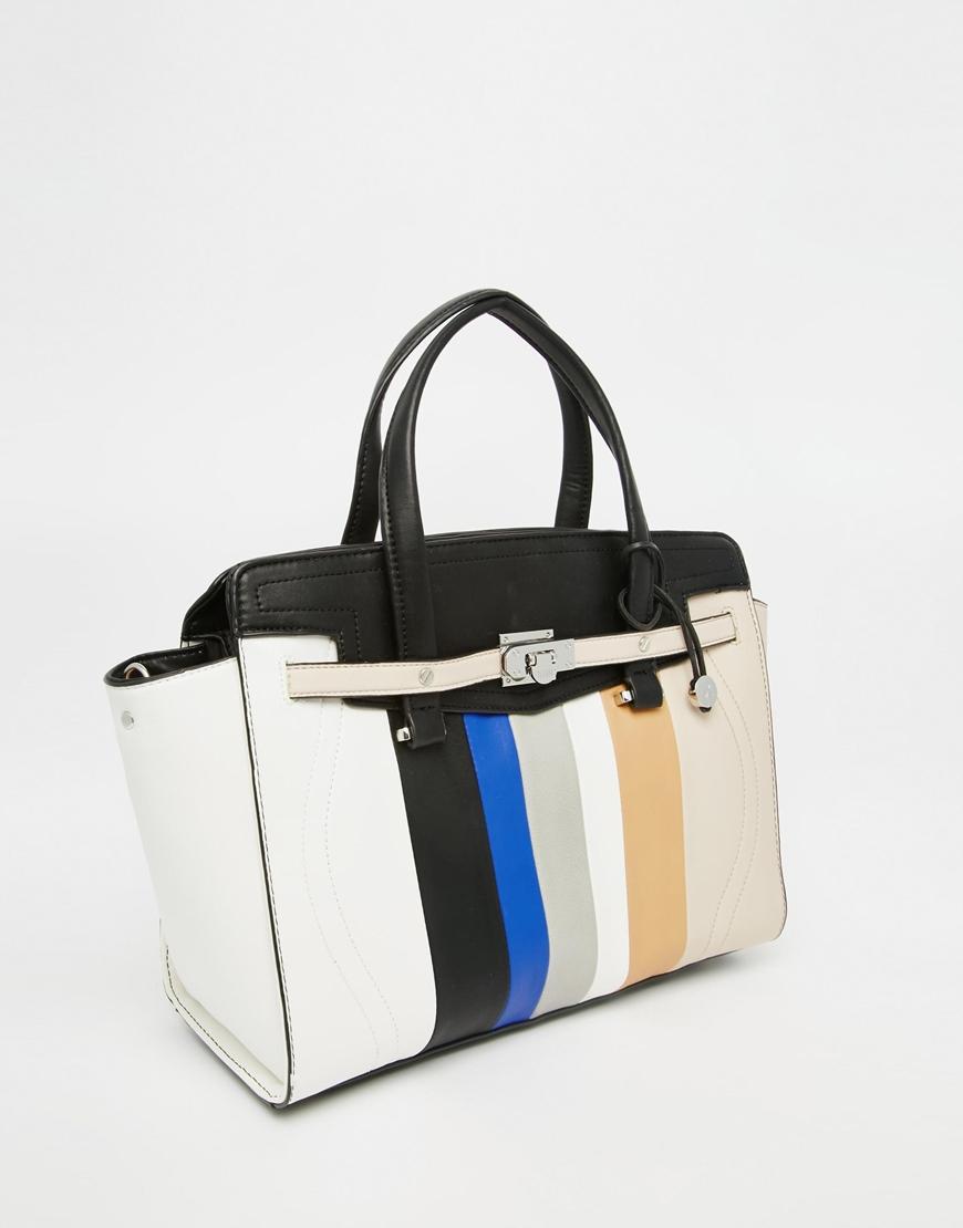 Fiorelli Striped Large Tote Bag - Colour Stripe in White