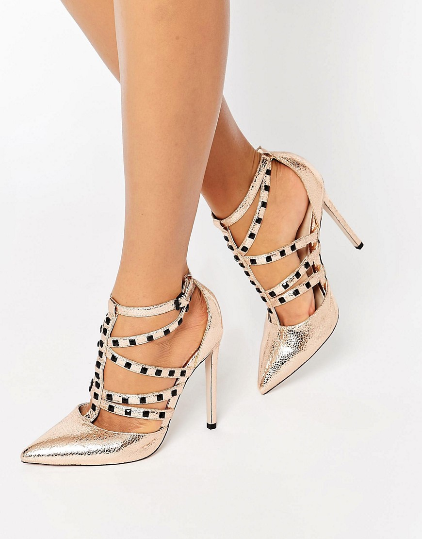 Asos Gold Heeled Shoes