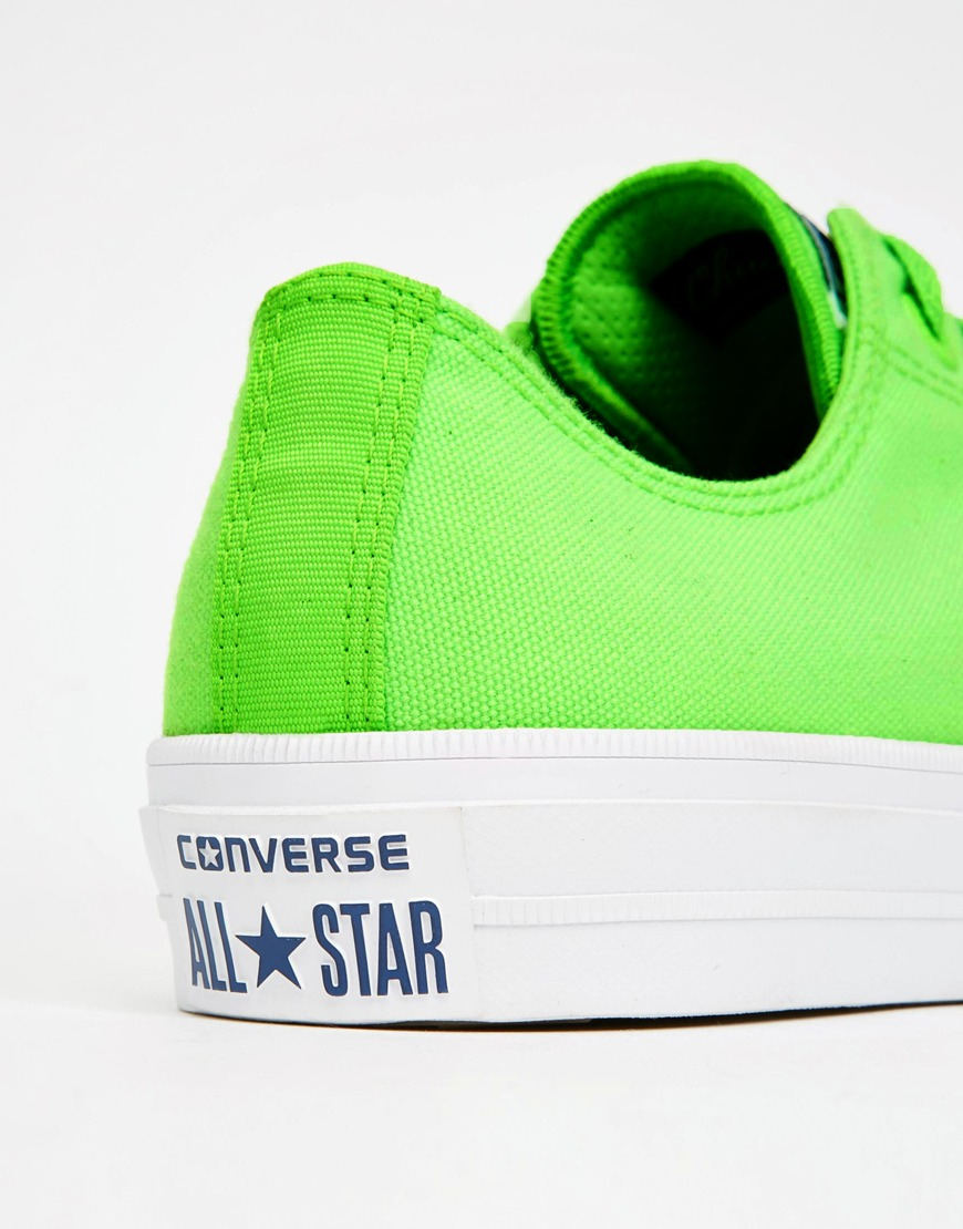 Converse Canvas Chuck Taylor All Star Ii Plimsolls In Neon Green 151122c - Green for Men