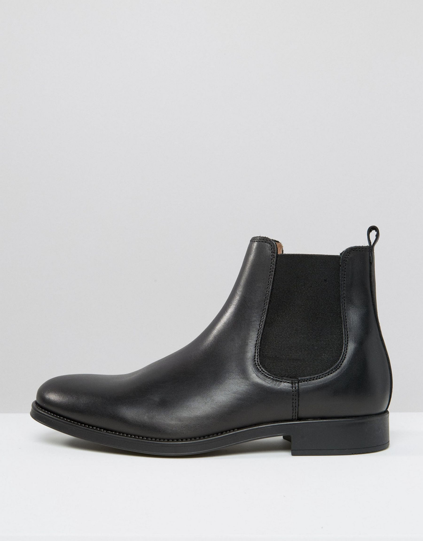 selected elected homme oliver leather chelsea boots in black for men lyst. Black Bedroom Furniture Sets. Home Design Ideas