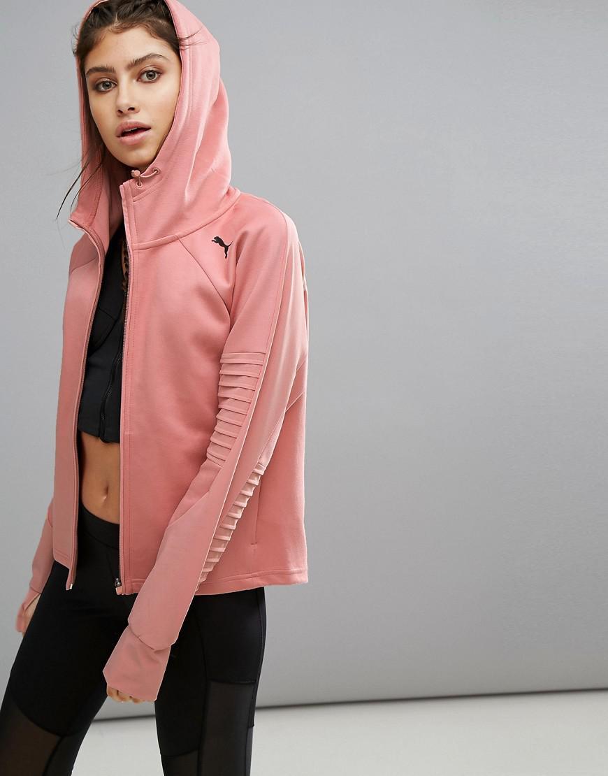 52a1dd8f27 PUMA Evostripe Jacket In Pink