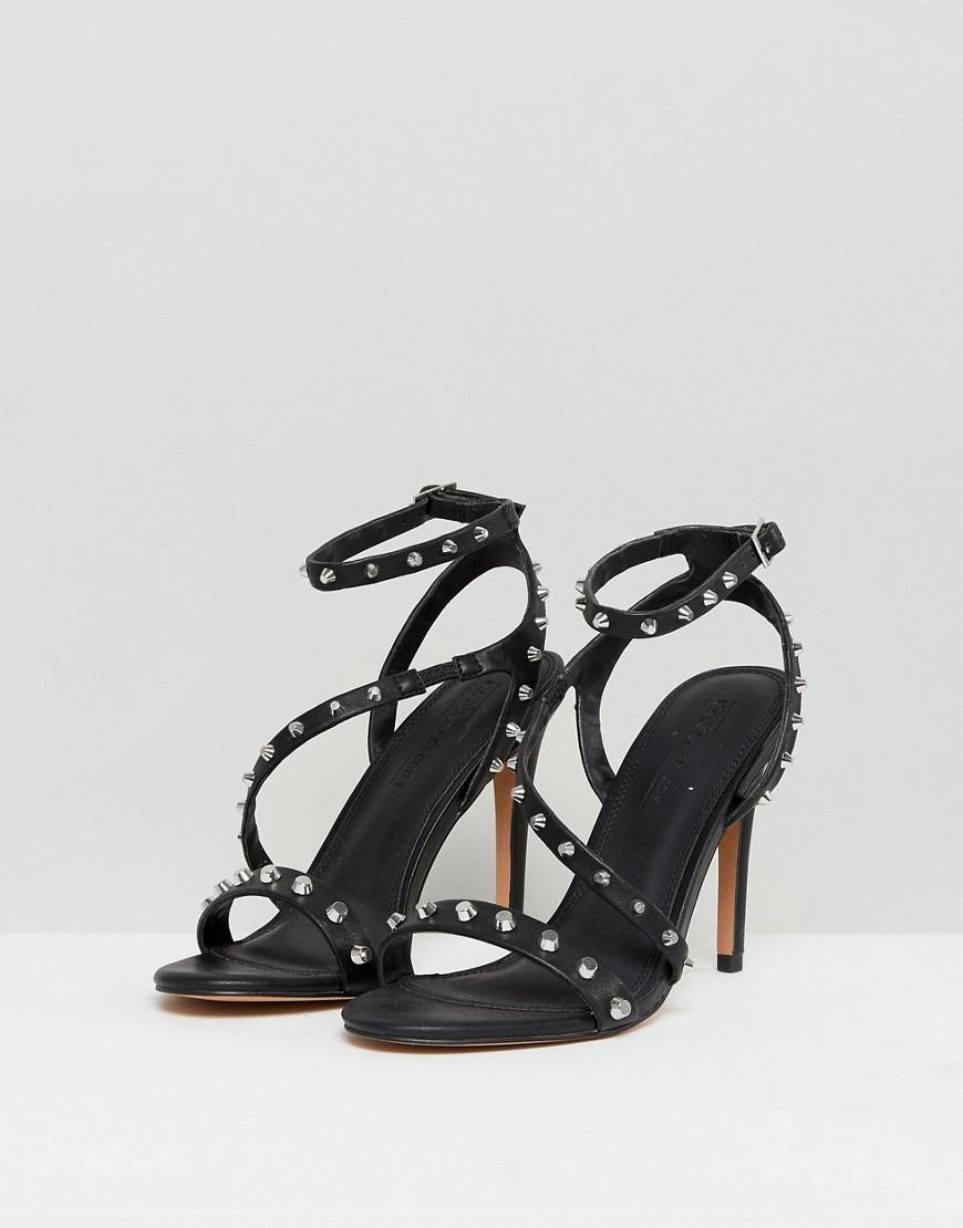 644506848b28 Lyst - ASOS Asos Hacker Studded Heeled Sandals in Black