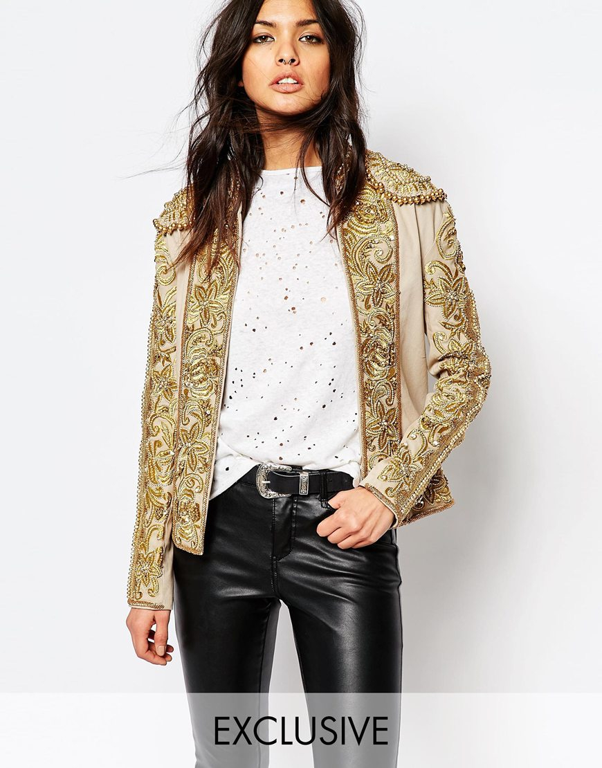 A star is born embroidered stretch cotton trophy jacket in